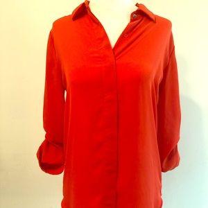 Orange 3/4 sleeve blouse